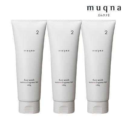 〈muqna〉 洗顔フォーム 120g 3本