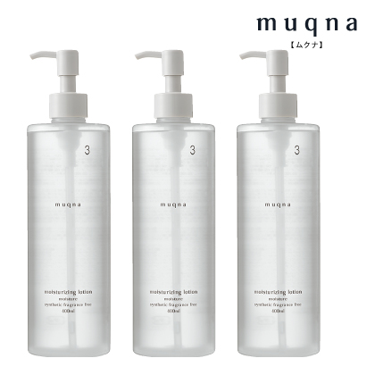 〈muqna〉 化粧水 しっとり 400ml 3本