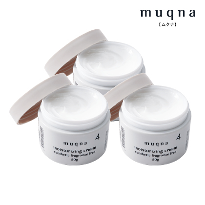〈muqna〉 保湿クリーム 50g 3個