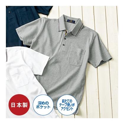吸汗発散半袖ポロシャツ グレー L