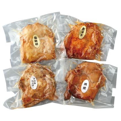 築地鳥藤一番人気の鶏もも照り焼き4種セット