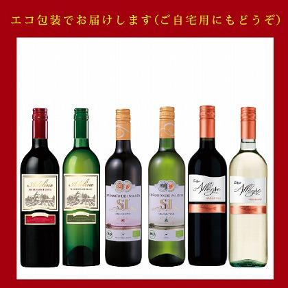 カジュアルワイン赤白6本セット