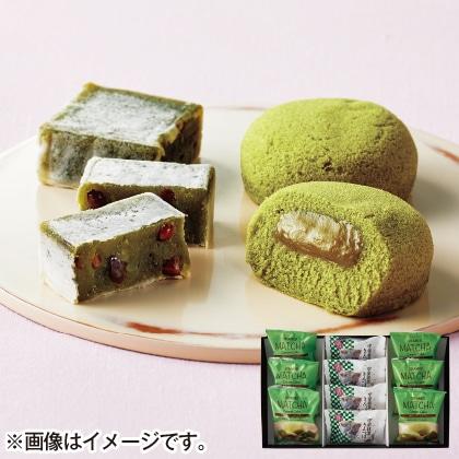 新緑の抹茶蒸しケーキ&きんつばセット