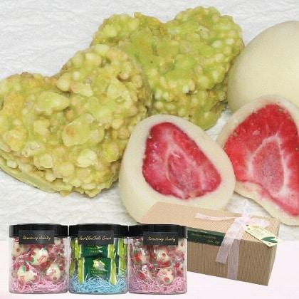 【通常配達】まるごと苺・オリーブハートクランチチョコギフト