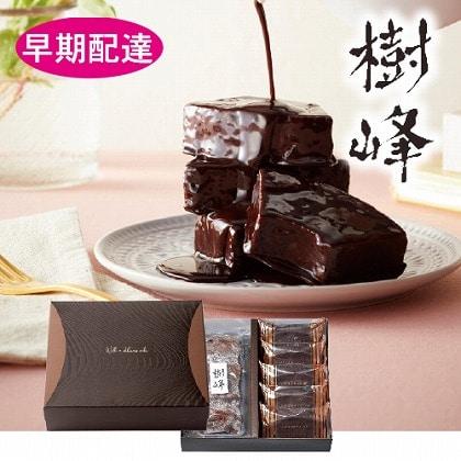 【早期配達】<樹峰ギフト>チョコハードバウム、チョコ掛けカットバウム