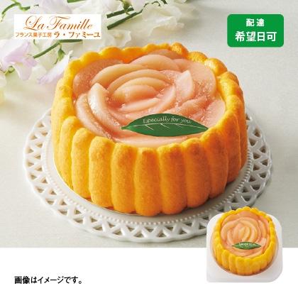 フラワーピーチレアチーズケーキ