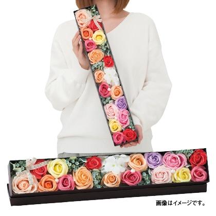 石けん素材で作ったバラのボックスフラワー