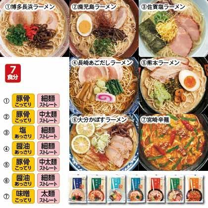 九州の旅ラーメン 7食詰合せ