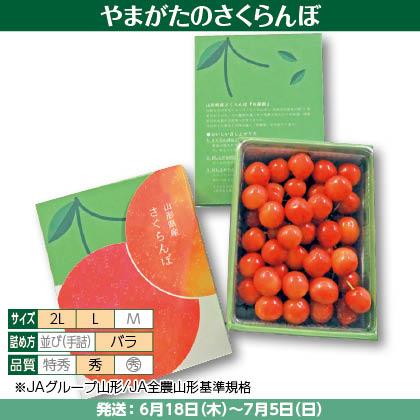 佐藤錦(1)500g(L又は2L、秀:バラ詰)、化粧箱入