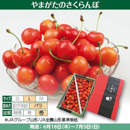 佐藤錦(4)1kg(L、〇秀:バラ詰)、化粧箱入