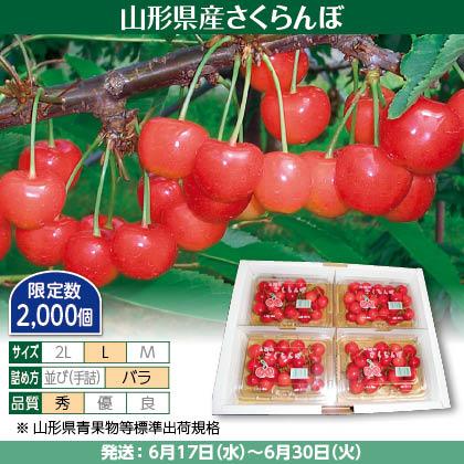佐藤錦(6)200g(L、秀:バラ詰)×4