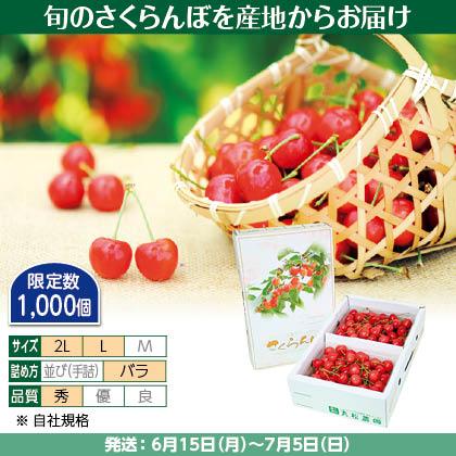 佐藤錦(11)500g(L又は2L、秀:バラ詰)×2