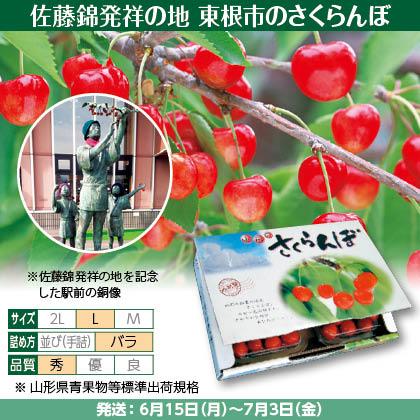 佐藤錦(12)500g(L、秀:バラ詰)×2、フードパック入