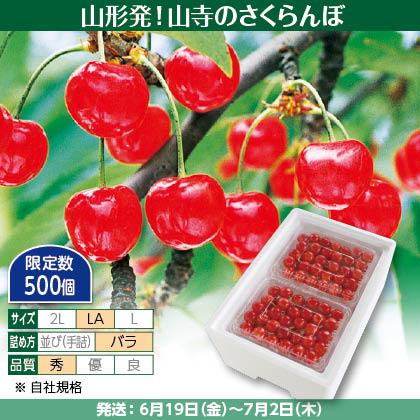 佐藤錦(21)500g(LA、秀:バラ詰)×2、保冷剤入