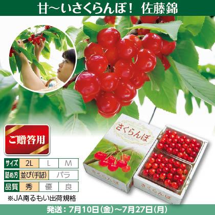 佐藤錦(24)500g(2L、秀:手詰)×2、化粧箱入
