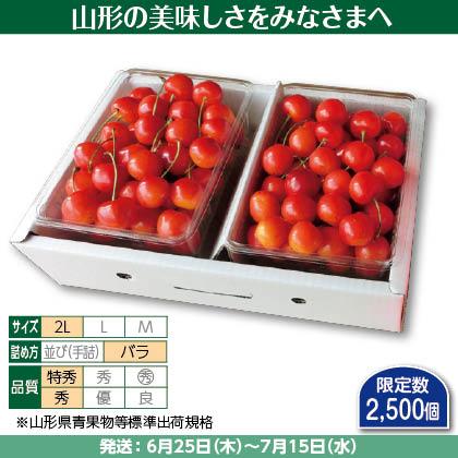 紅秀峰(7)500g(2L、特秀・秀混:バラ詰)×2、 化粧箱入