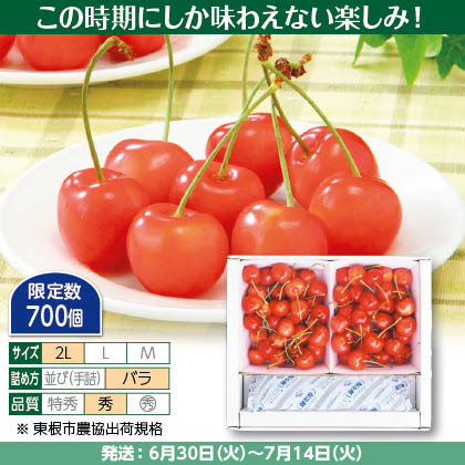 紅秀峰(10)300g(2L、秀:バラ詰)×2、保冷剤入