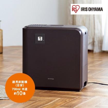 <アイリスオーヤマ>気化ハイブリッド式加湿器700ml(ブラウン)