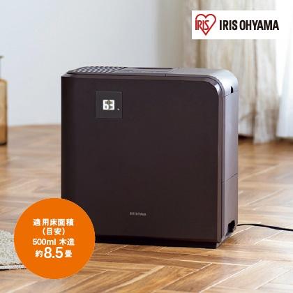 <アイリスオーヤマ>気化ハイブリッド式加湿器500ml(ブラウン)