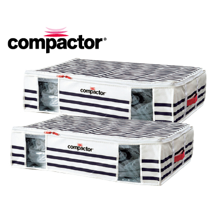 〈コンパクター〉圧縮ボックス マリン柄(L 2個)