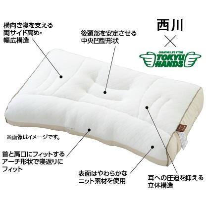 西川と東急ハンズが考えた枕(高め)