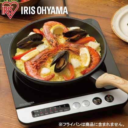 〈アイリスオーヤマ〉IHコンロ 1400W(ブラック)