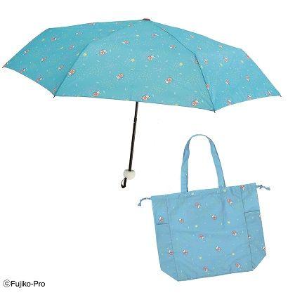 ドラえもん 折りたたみ傘(雨傘)+飴の雨トートバッグ