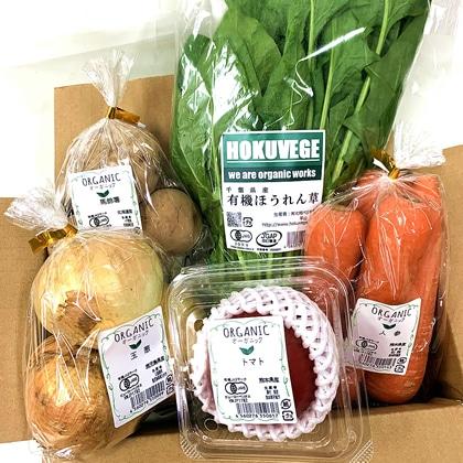 有機JAS認証 5色有機野菜セット(5品)