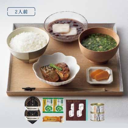 [プレミアムデリバリー]お試しセットA (米・スープ・漬物・缶詰・デザート)