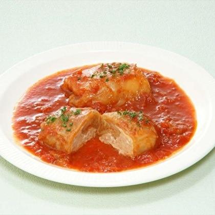 国産キャベツと豚肉で作ったロールキャベツ