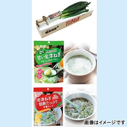 岩津ねぎと粉末スープのセット  【12月3日以降発送】