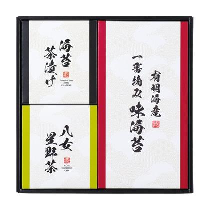 八女星野茶・海苔茶漬け・有明海産味海苔詰合せ【弔事用】