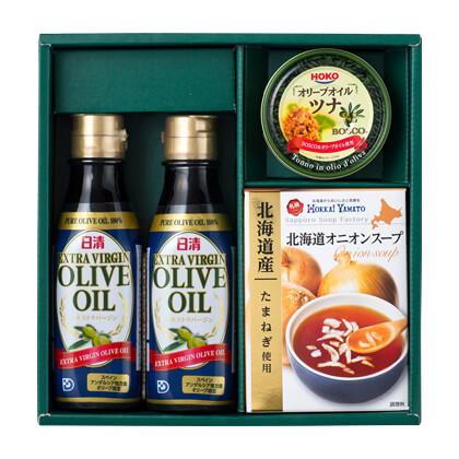 日清オリーブ調味料ギフトA【弔事用】