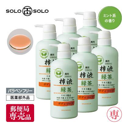 〈ソロソロ〉薬用柿渋エキス配合ボディソープ 6本