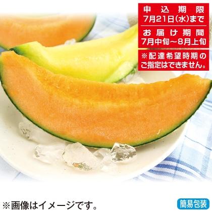 <※お中元対象商品>山形県産庄内メロン(赤肉)
