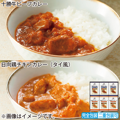 <※お中元対象商品>帝国ホテル 十勝牛・日向鶏カレーセット