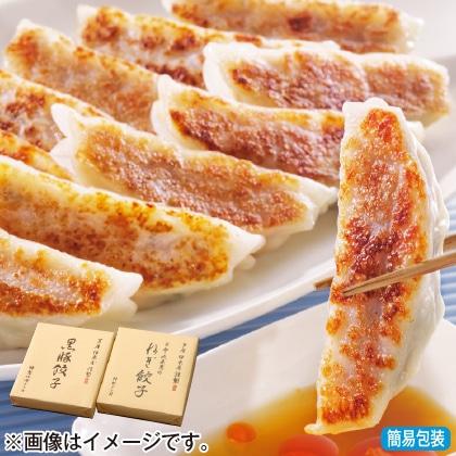 <※お中元対象商品>黒豚餃子と九条葱餃子セットA