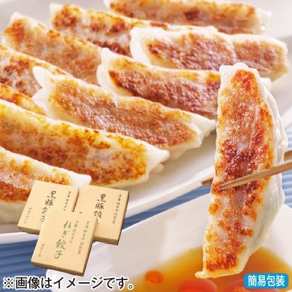<※お中元対象商品>黒豚餃子と九条葱餃子セットB