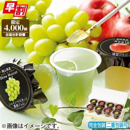 <※お中元対象商品>シャインマスカットと林檎の濃厚果実ジュレ