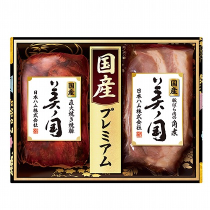 <※お中元対象商品>ニッポンハム 国産美ノ国焼豚・角煮詰合せ