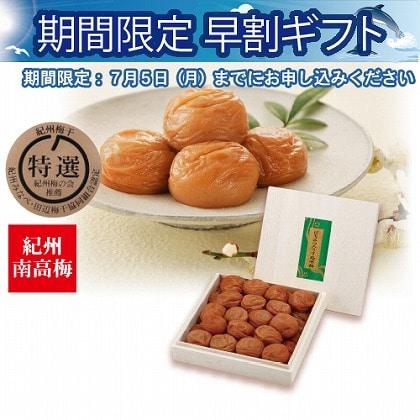 <※お中元対象商品>紀州南高梅 はちみつ入うす塩味600g木箱入
