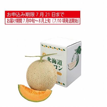 <※お中元対象商品>北海道産 赤肉メロン