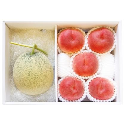 <※お中元対象商品>北海道メロンと山梨の桃