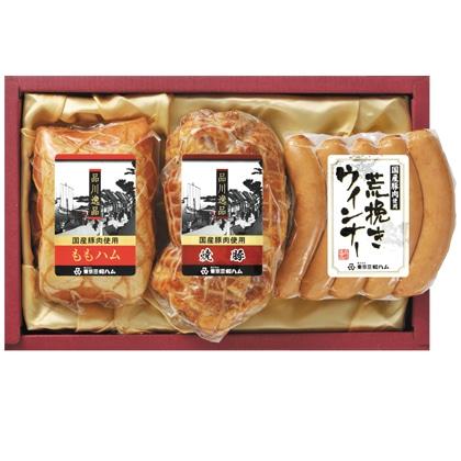 <※お中元対象商品>品川逸品ももハム・焼豚・ウィンナ−セット