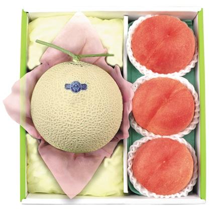 <※お中元対象商品>マスクメロン&水蜜桃