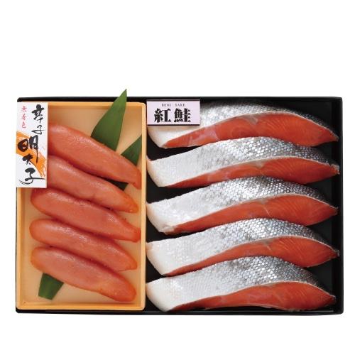 <※お歳暮対象商品>辛子明太子・紅鮭詰合せ