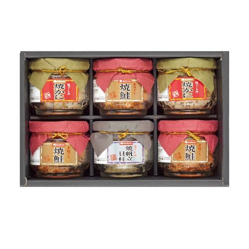 <※お歳暮対象商品>マルハニチロ 鮭・蟹・帆立瓶詰詰合せ