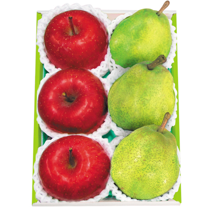 <※お歳暮対象商品>山形産ラ・フランス&青森産サンふじりんご