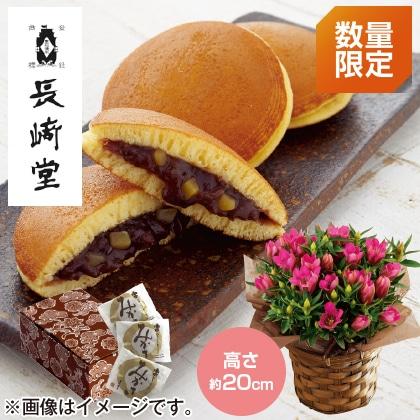 〈※敬老の日対象商品〉りんどう(ピンク)&栗入りどら焼きセット