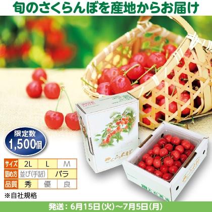 佐藤錦(9)500g(L又は2L、秀:バラ詰)
